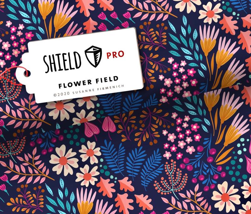 Shield Pro - Flower Field von Hamburger Liebe & Albstoffe - antimikrobiell für Atem-und Mundmasken!