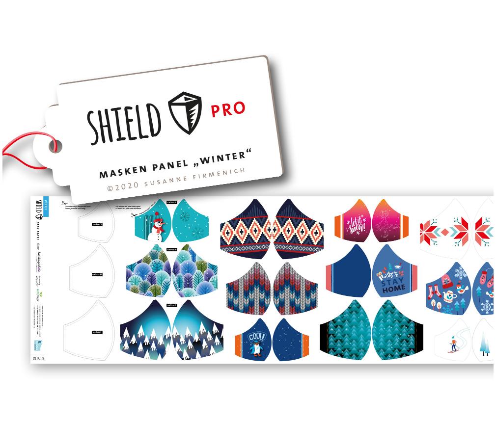 Shield Pro - Shield Panel Winter rund von Hamburger Liebe & Albstoffe - antimikrobiell für Atem-und Mundmasken!