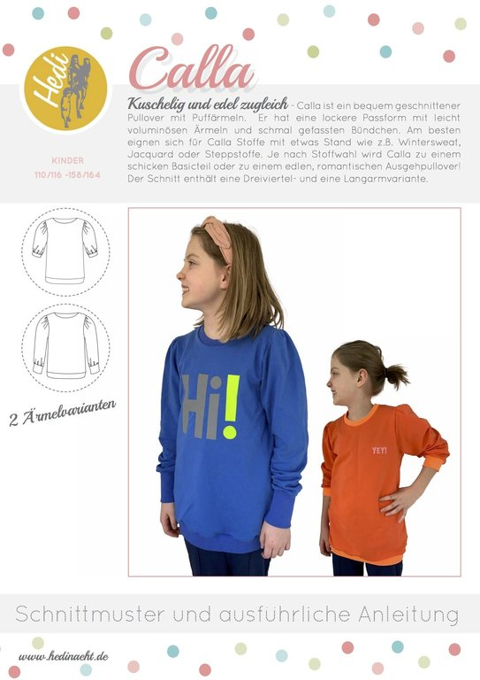 Papierschnittmuster - Calla Kids | HEDI NÄHT