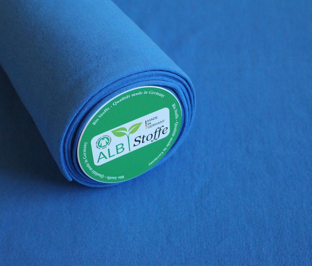 Bio-Bündchen von Albstoffe in blau
