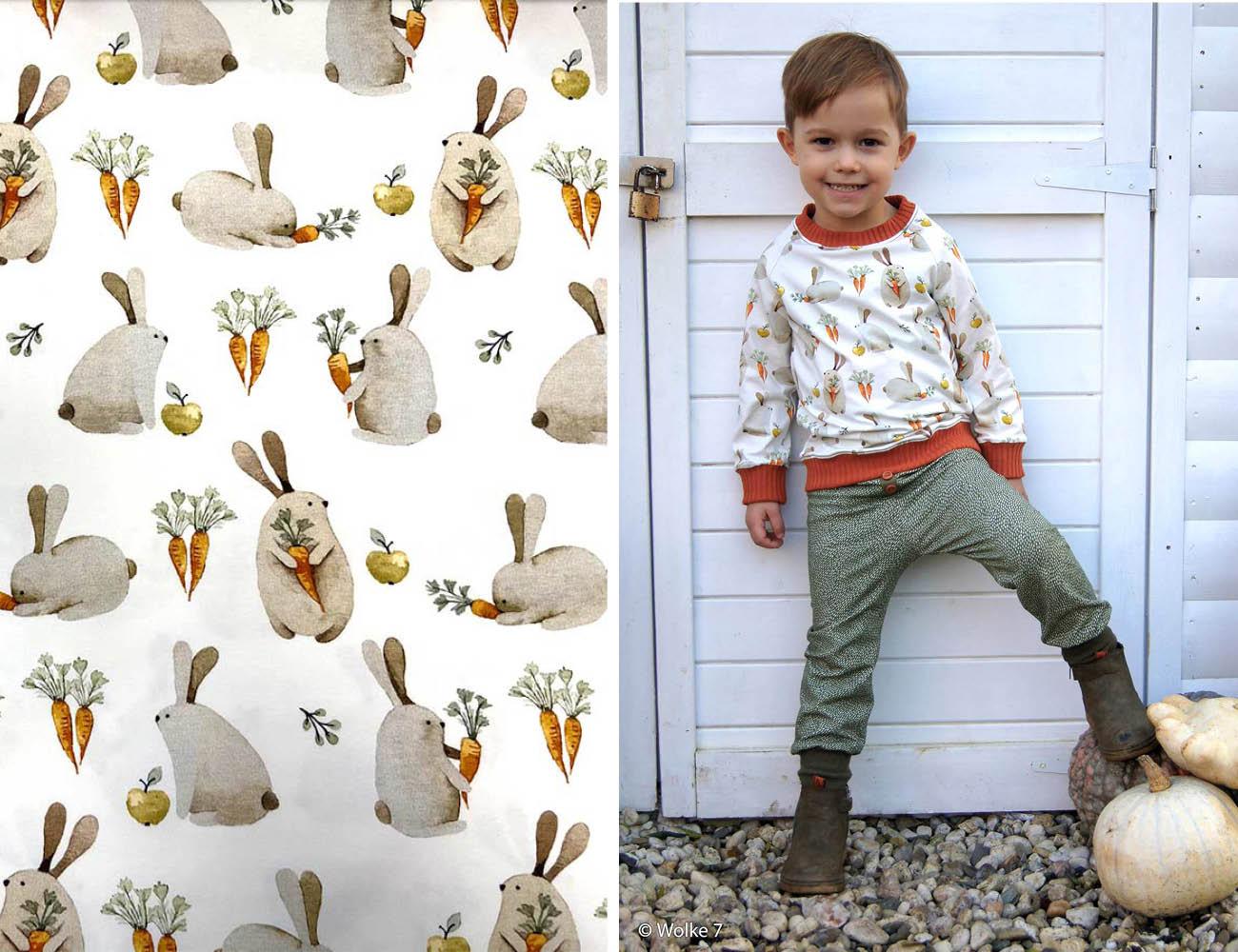 Jersey - Autumn Bunny mit Hasen     Swafing