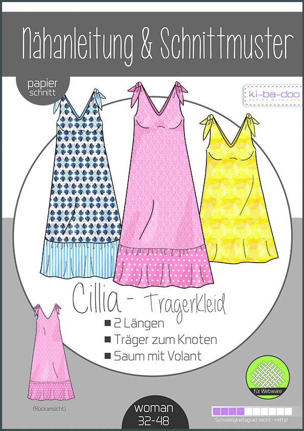 KI-BA-DOO Cillia Knoten-Kleid Damen Papierschnittmuster