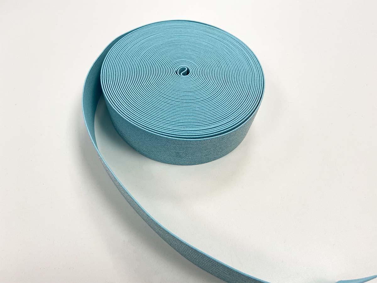 Gummiband mit Glitzer,  4cm in hellblau