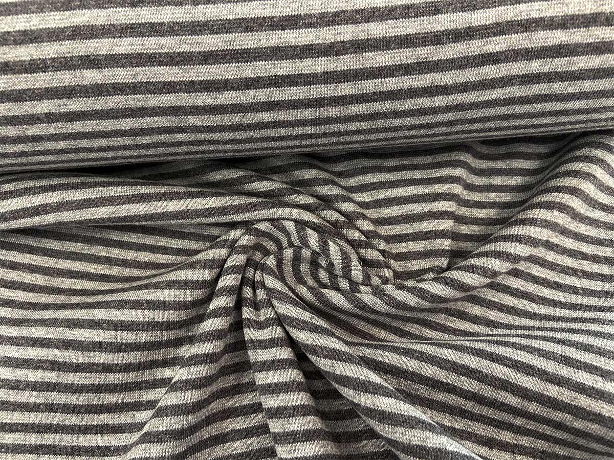 Bündchen - anthrazit/grau gestreift