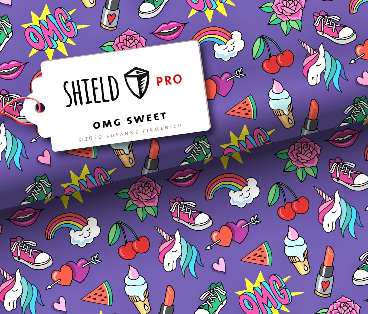 Shield PRO KIDS - OMG Sweet von Hamburger Liebe - antimikrobiell für Atem-und Mundmasken!