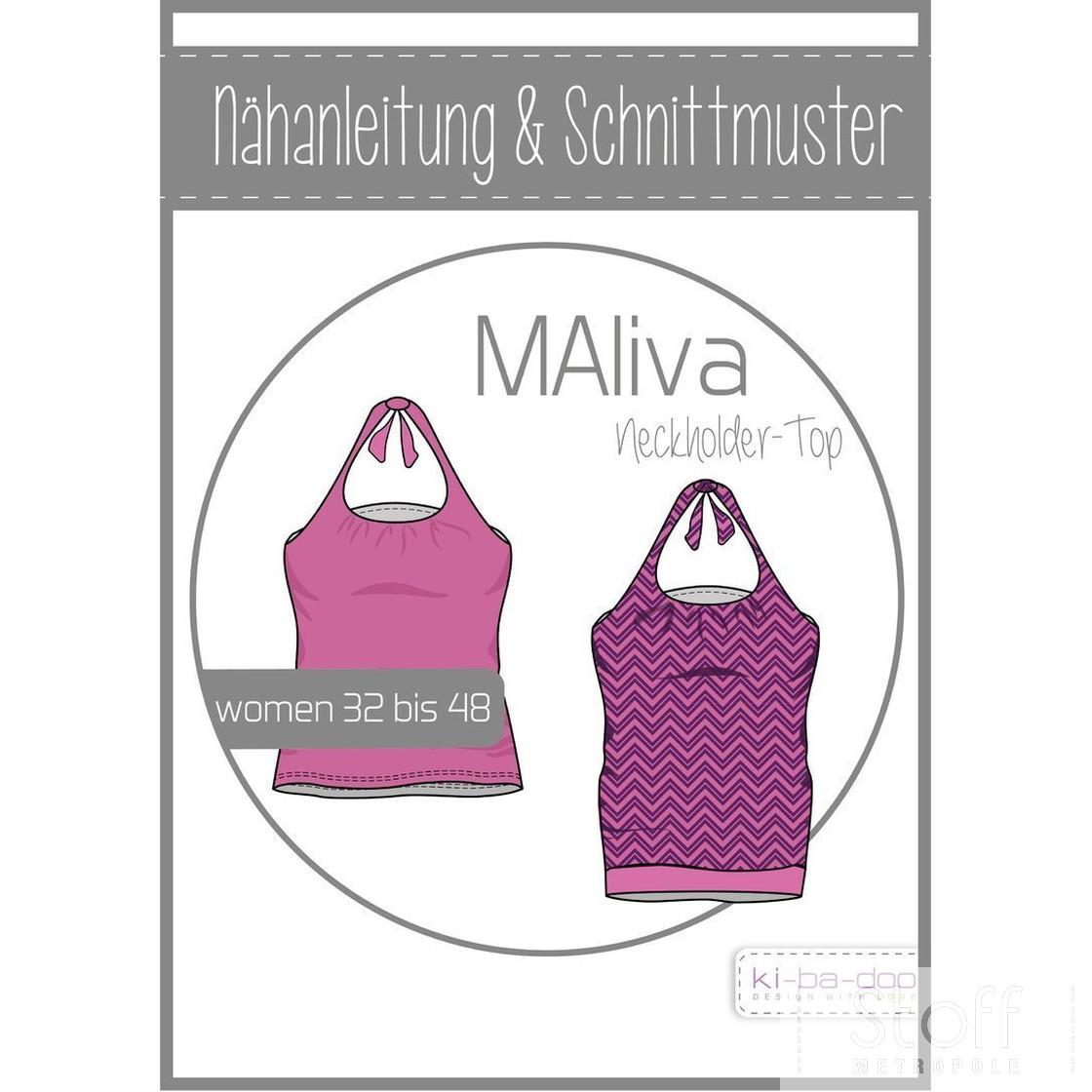 KI-BA-DOO Maliva Neckholder Shirt  Top Damen Papierschnittmuster