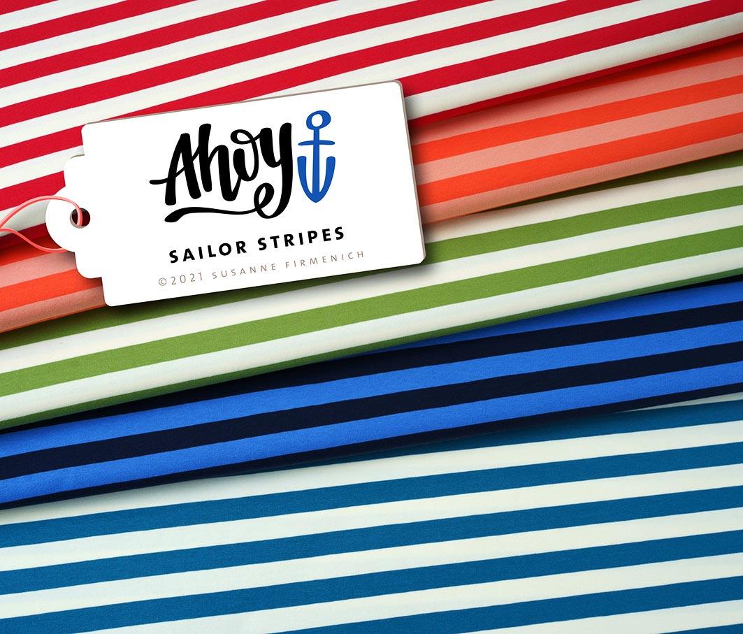 Sailer Stripes Ahoy Jersey Hamburger Liebe & Albstoffe