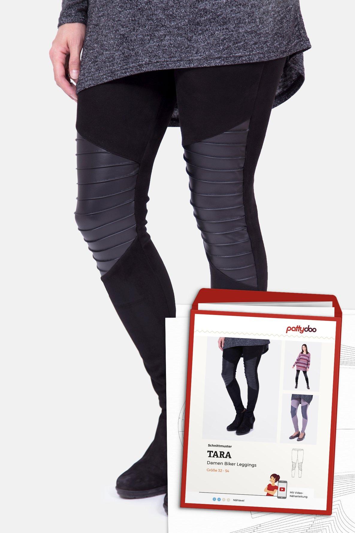 PATTYDOO Tara Biker Leggings Damen Papierschnittmuster