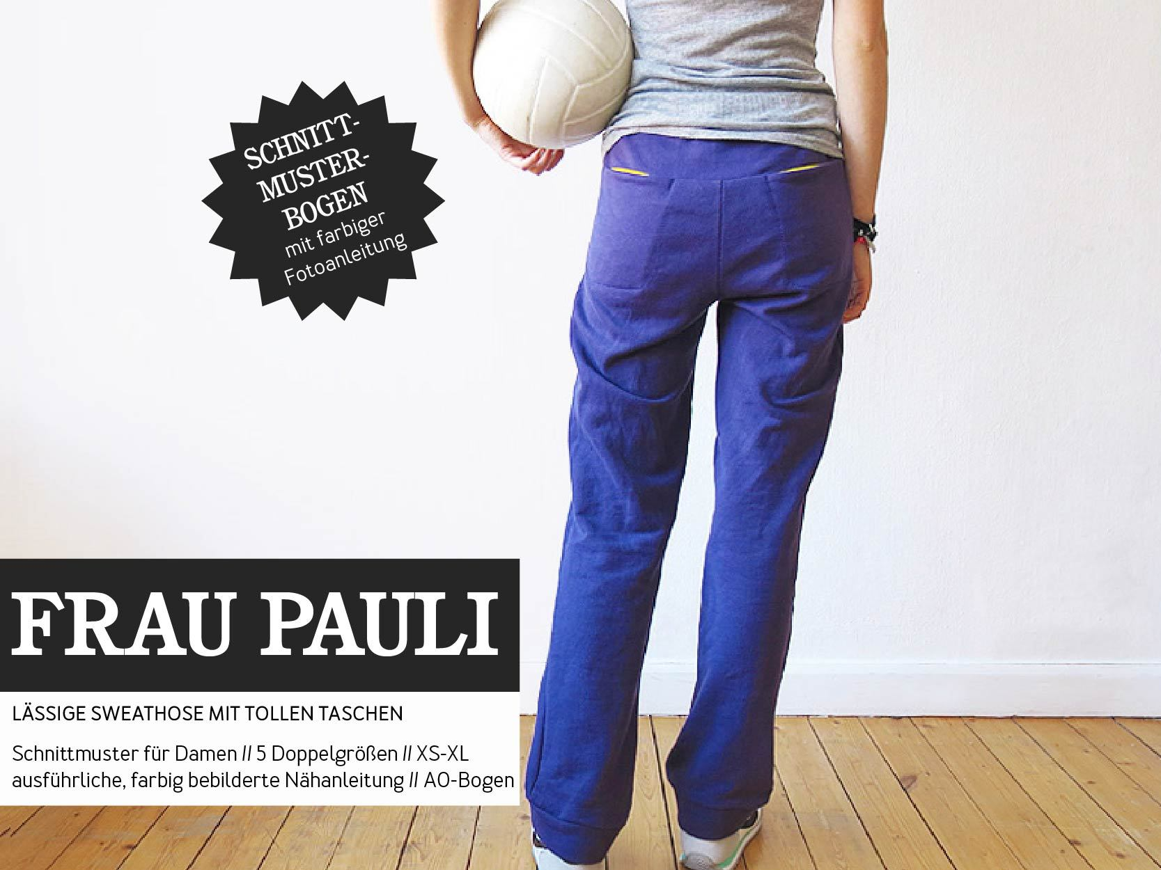 STUDIO SCHNITTREIF Frau Pauli Jogging Hose Papierschnittmuster