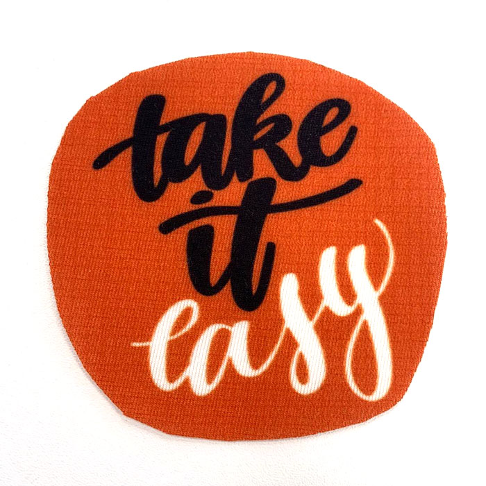 Applikation im Hamburger Liebe Design - take it easy