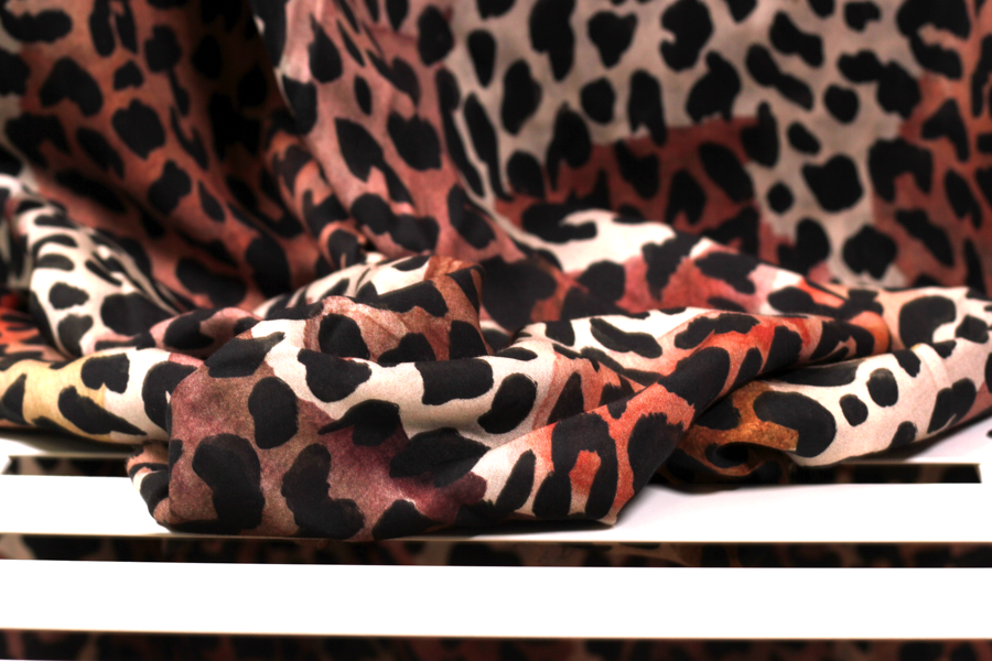 Tencel Webware - Animal print in braun