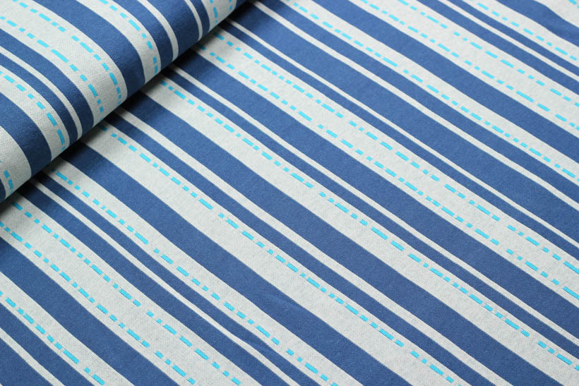 "Jacquard - BLOOM ""Pin Stripes"" blau  - HAMBURGER LIEBE & ALBSTOFFE"