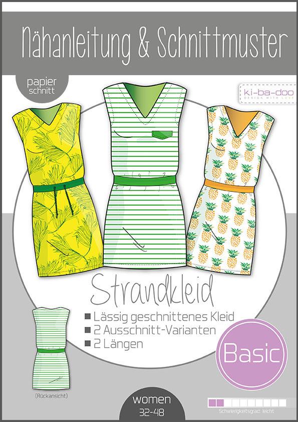 KI-BA-DOO Kleid Strandkleid Damen Papierschnittmuster