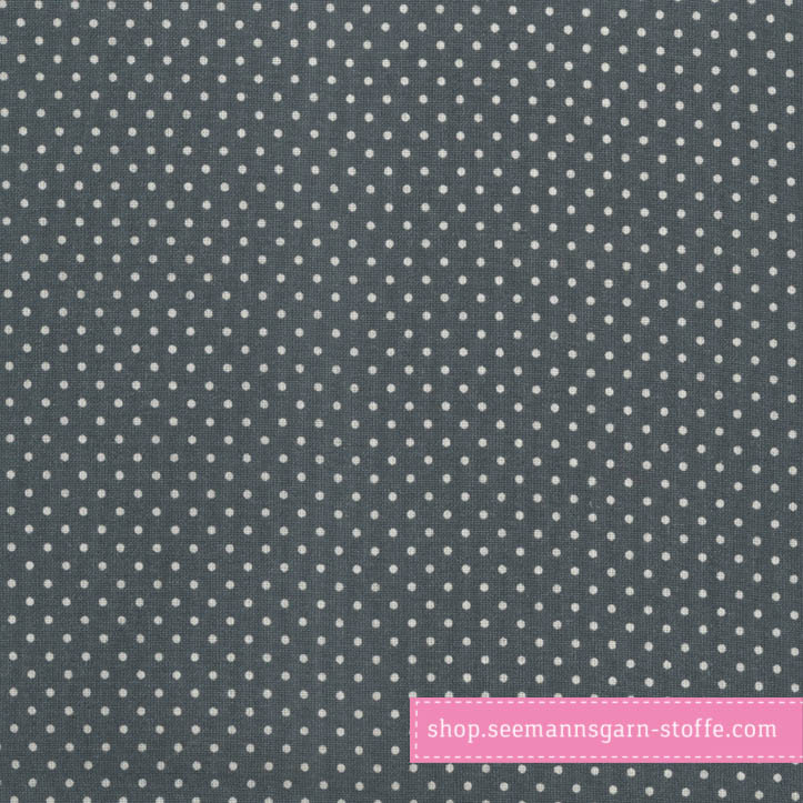 Wachstuch - Oilcloth Dots Midnight Blue