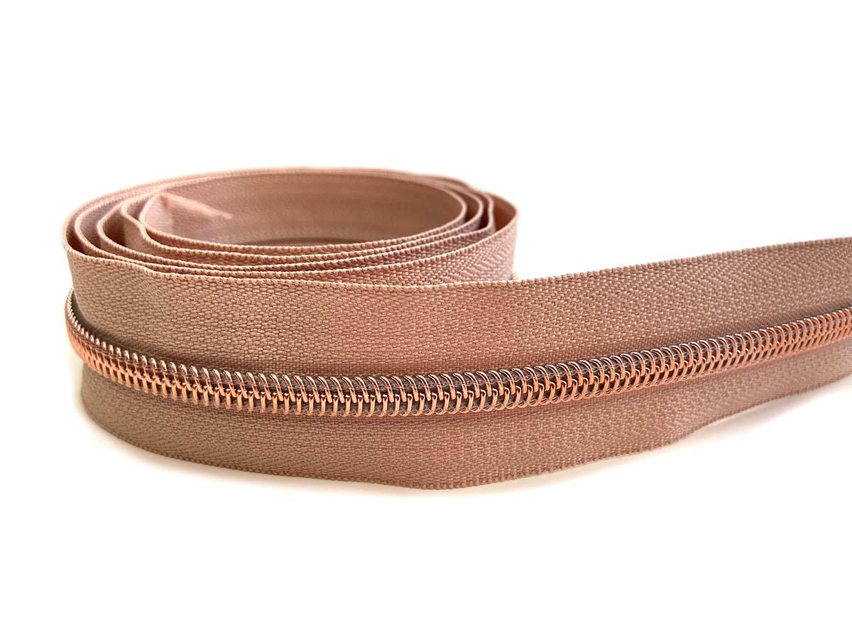 Reißverschluss in hautfarbe/rosègold - 1m - endlos