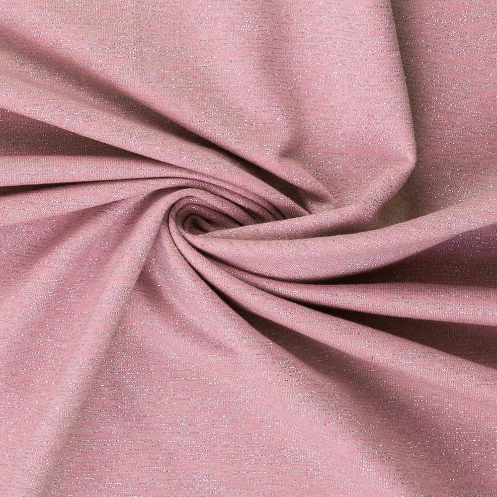 Angerauter Sweat  in rosa mit silbernen Streifen von Swafing kaufen!