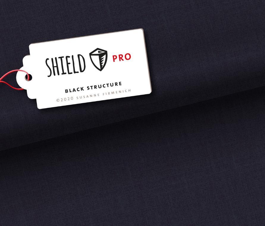 Jersey Shield Pro - Uni Structure in black von Hamburger Liebe & Albstoffe - antimikrobiell
