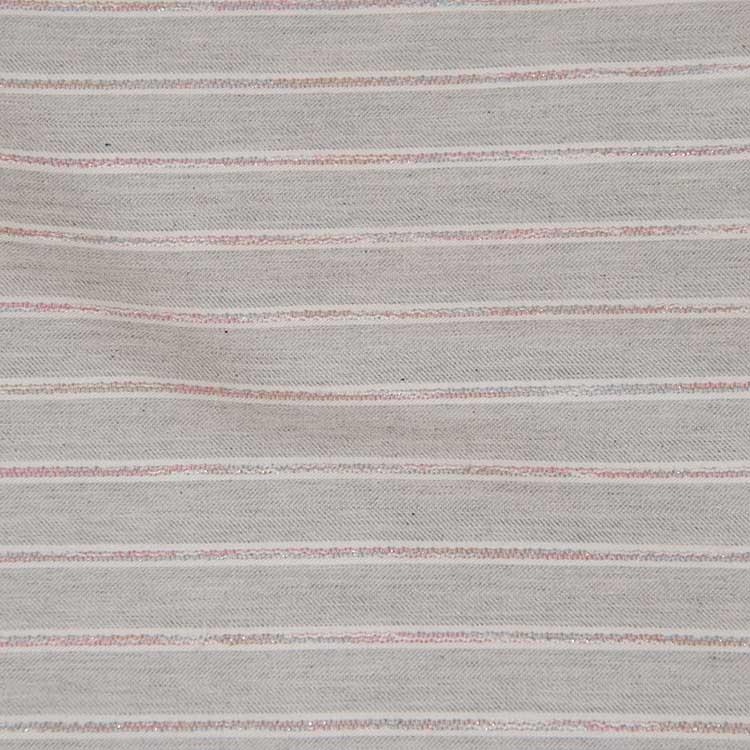 Webware Baumwolle - Bailee in grau gestreift von Hilco