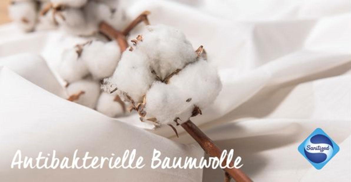 Antibakterielle Baumwolle - weiß uni für Gesichtsmasken und Atemmasken.