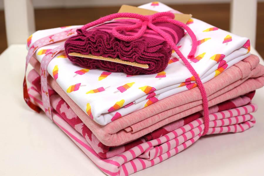 Stoffpaket in den Farbtönen rosa und pink | Yummy Icecream