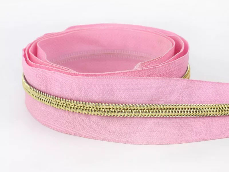 Reißverschluss endlos 1m in rosa/gold