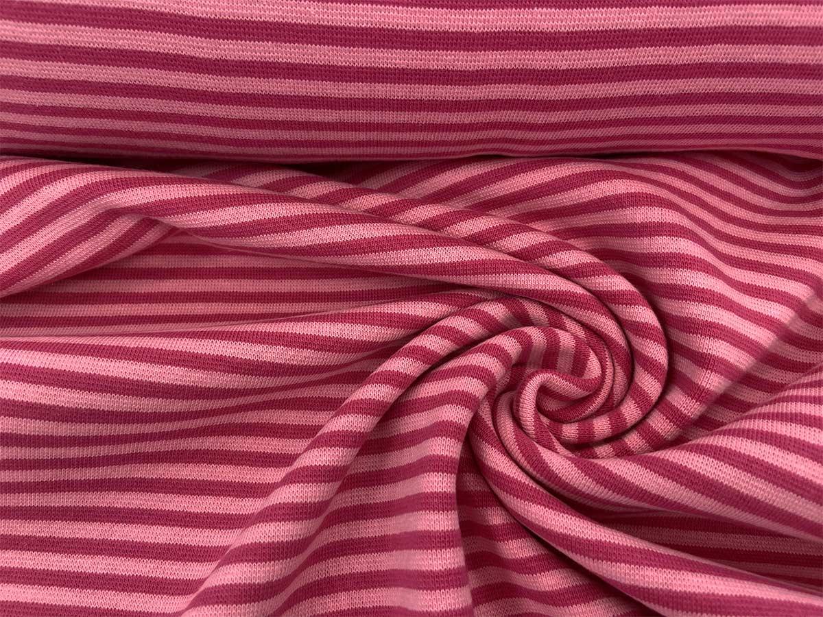 Bündchen - pink/rosa gestreift