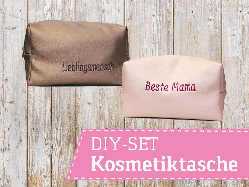 Kosmetiktasche nähen - personalisierbares DIY-Set von SEEMANNSgarn