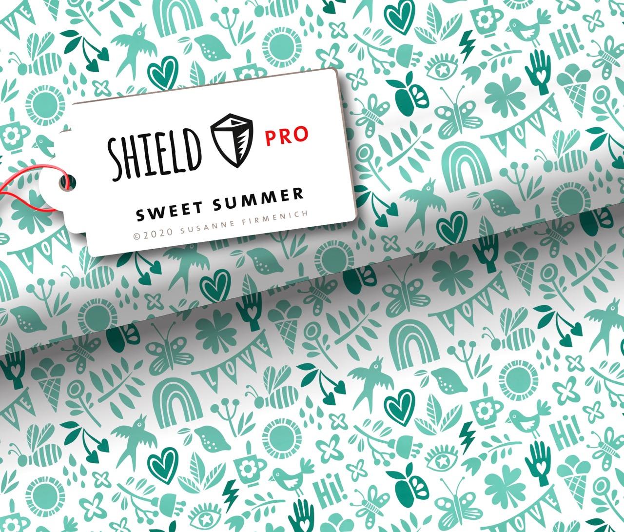 Shield Pro - Sweet Summer Mint von Hamburger Liebe & Albstoffe - antimikrobiell für Atem-und Mundmasken!