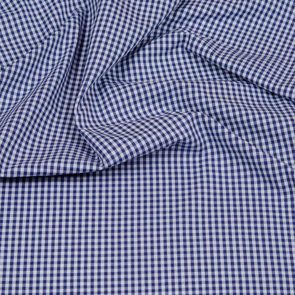 Webware Baumwolle - Vichy Karo blau von Hilco