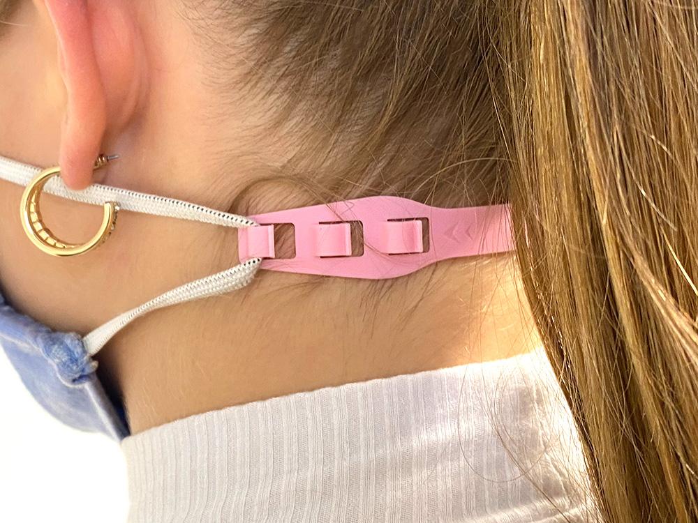 EAR FREE Ohrenschoner für Maskenbänder in rosa von SEEMANNSgarn