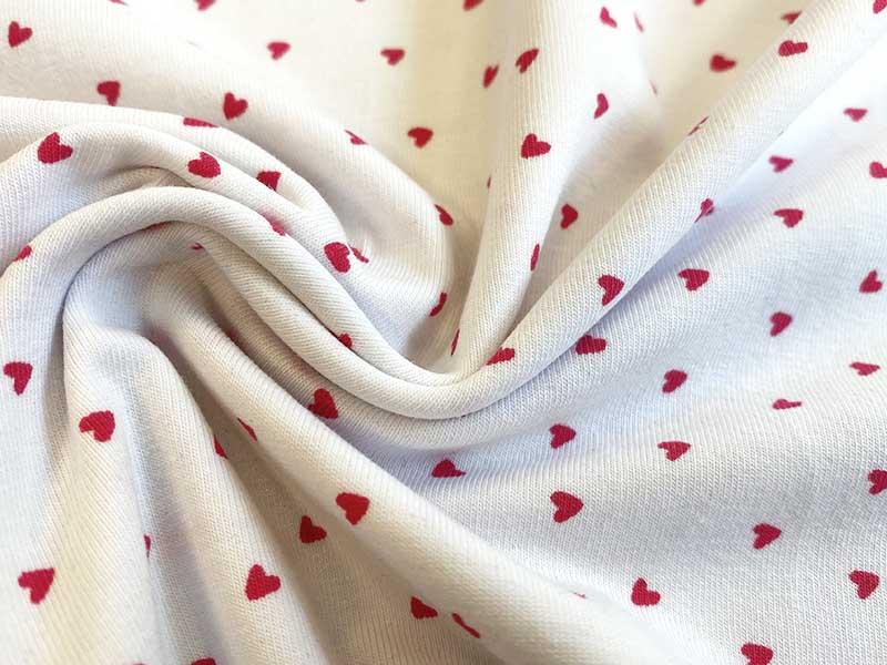 Jersey - Little Hearts in weiß - designed by Poppy