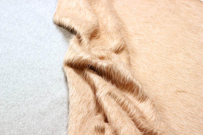 zweiseitigen Sweatstoff in grau-meliert/beige kaufen