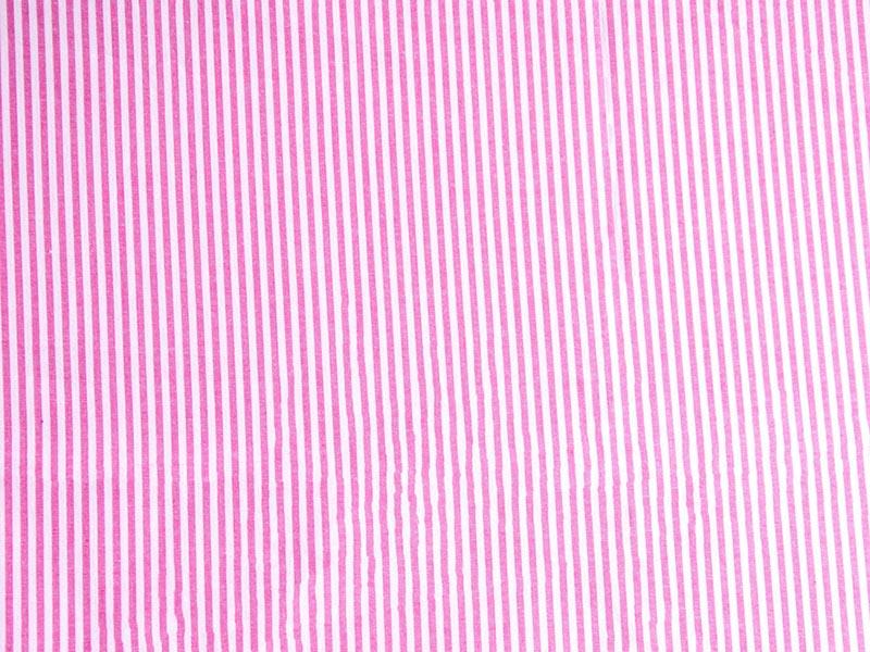 Webware Baumwolle - Ida Stripe in pink von Hilco