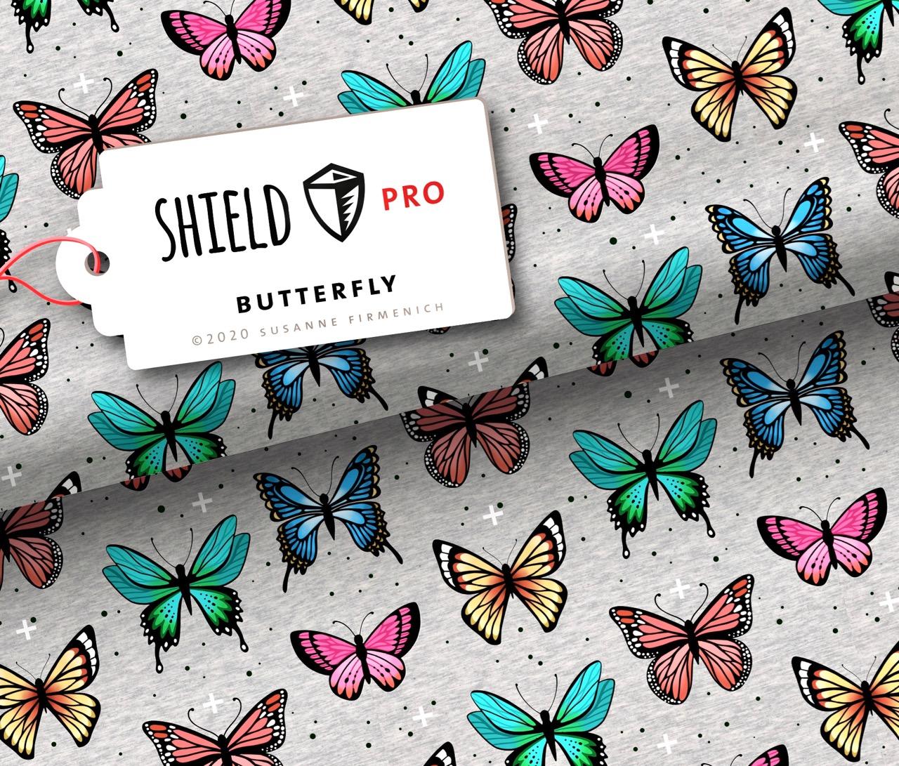 Shield Pro - Butterfly von Hamburger Liebe & Albstoffe - antimikrobiell für Atem-und Mundmasken!
