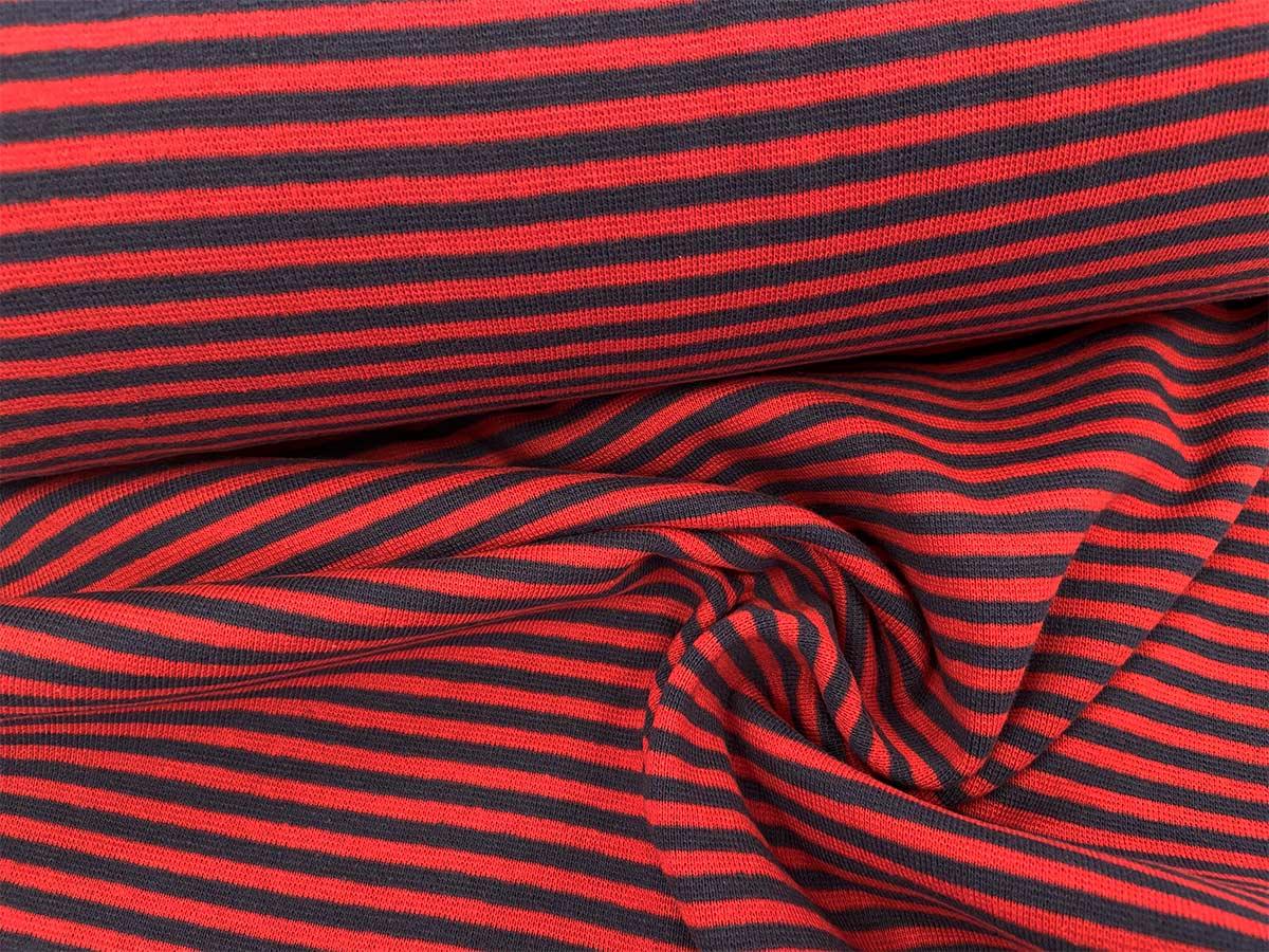 Bündchen - rot/blau gestreift