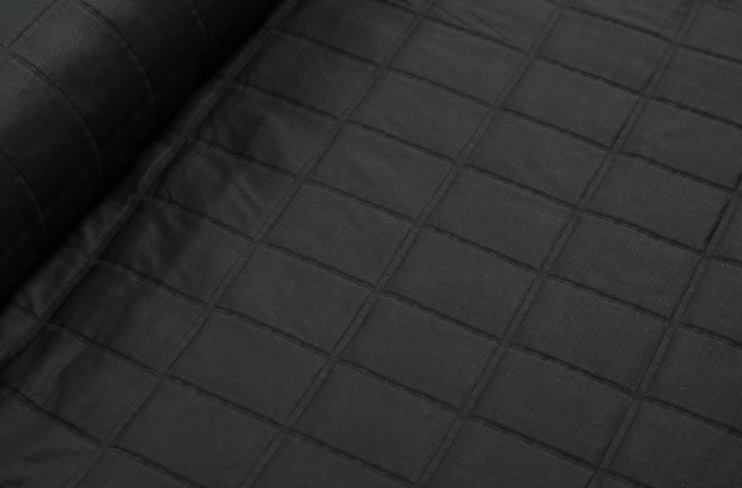 Stepp - Jackenstoff aus Stepp in schwarz von Hilco