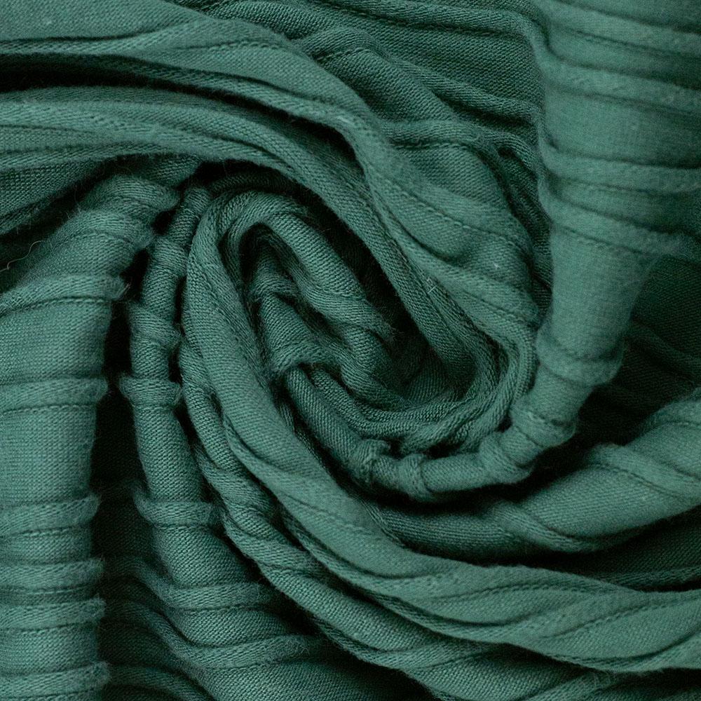 Jersey mit Struktur Peru von Swafing in smaragdgrün