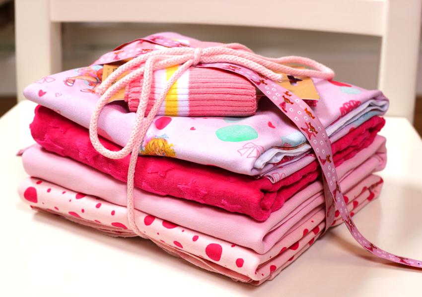 Stoffpaket in den Farbtönen rosa und pink | Little Princess