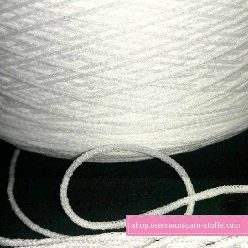 Rundgummi 3 mm weiß