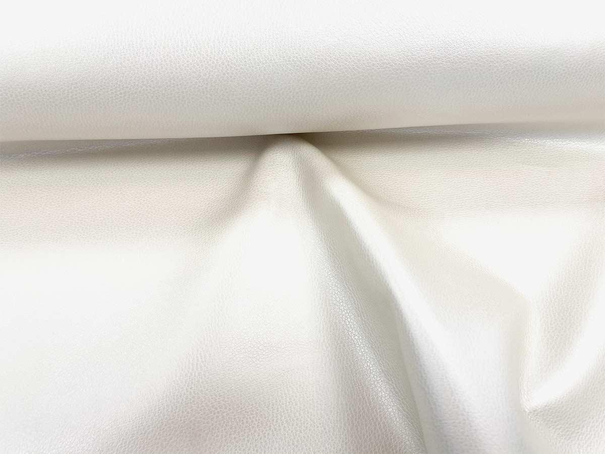 Kunstleder - weiß uni