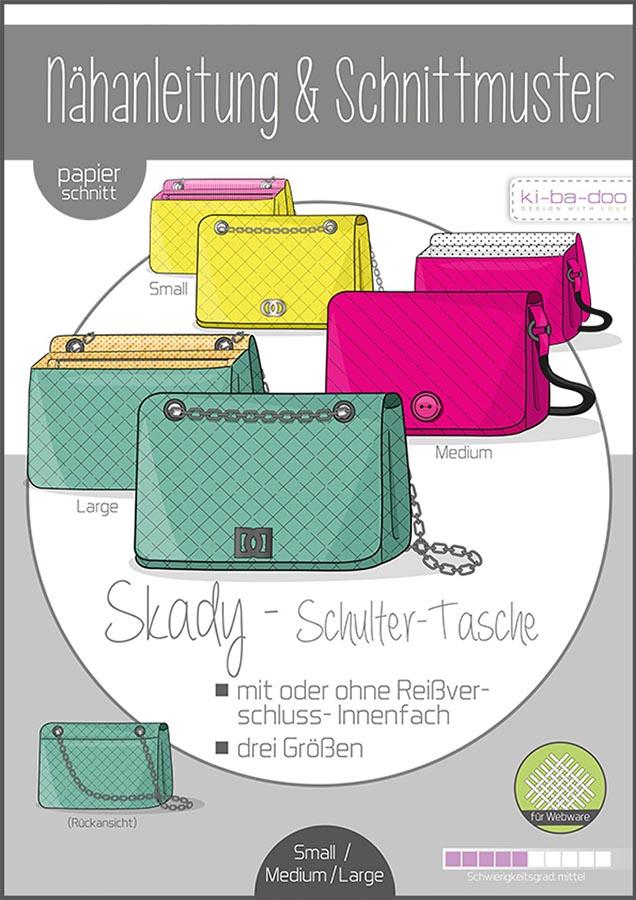 KI-BA-DOO Skady Handtasche Schulter-Tasche Damen Papierschnittmuster