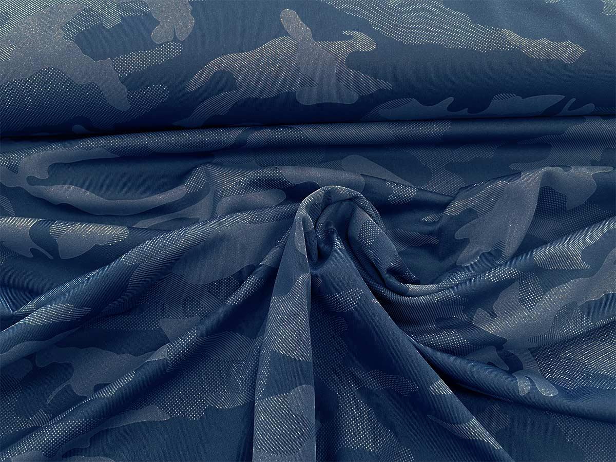 Funktionsjersey - Camouflage in blau
