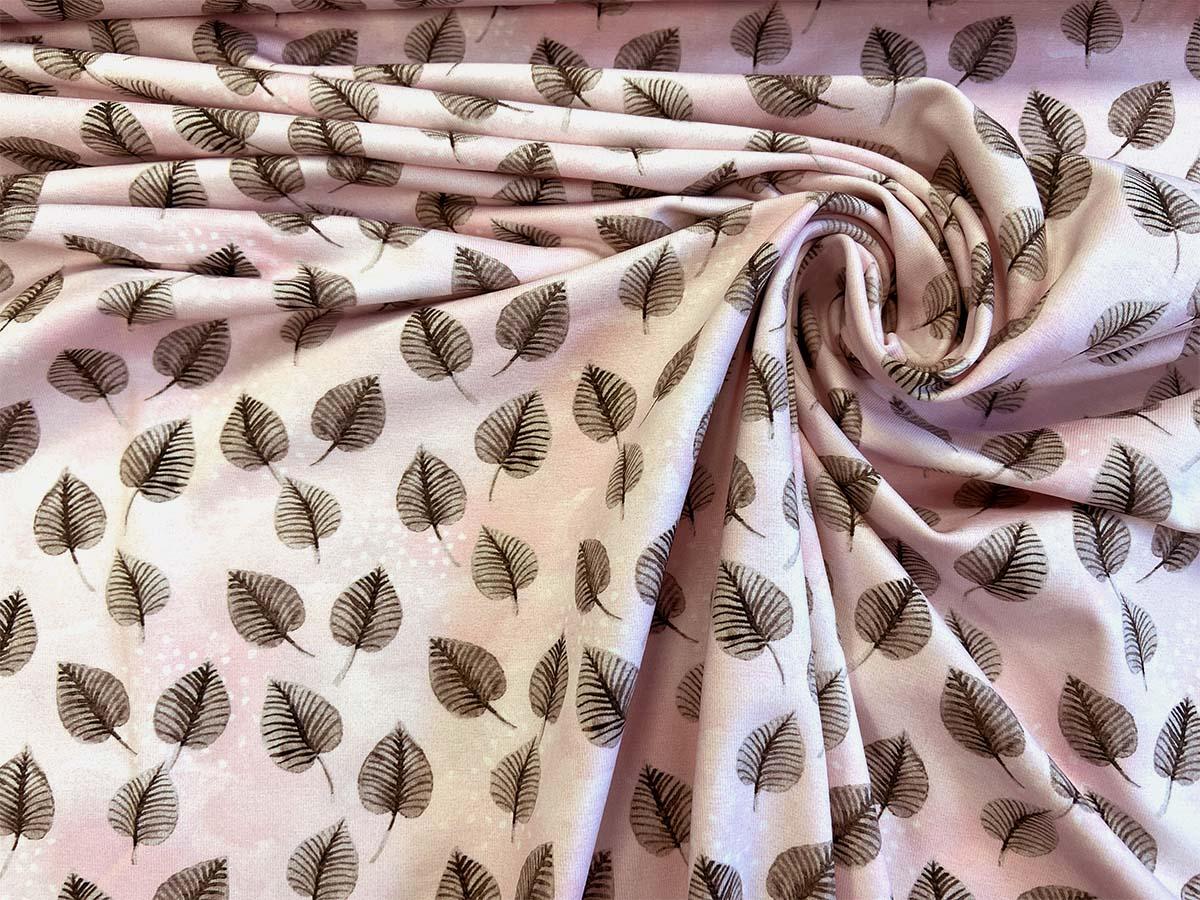 "Jersey - ""Beaver leaves"" in rosa | Hilco"