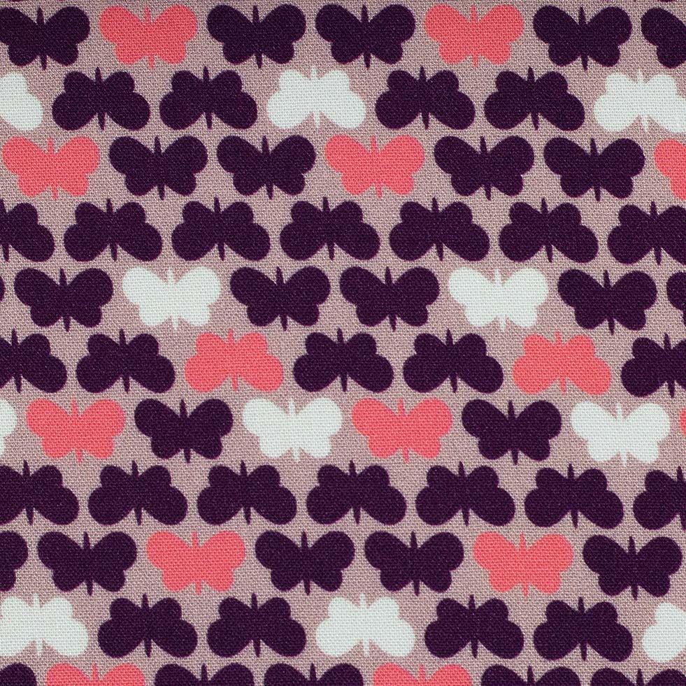 Viskose Webware - Butterflies by Lycklig Design - rosa - Swafing