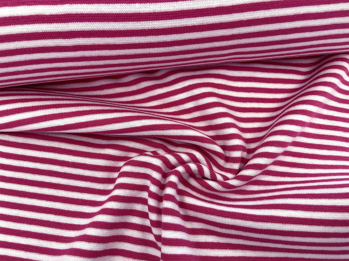 Bündchen - pink/weiß gestreift