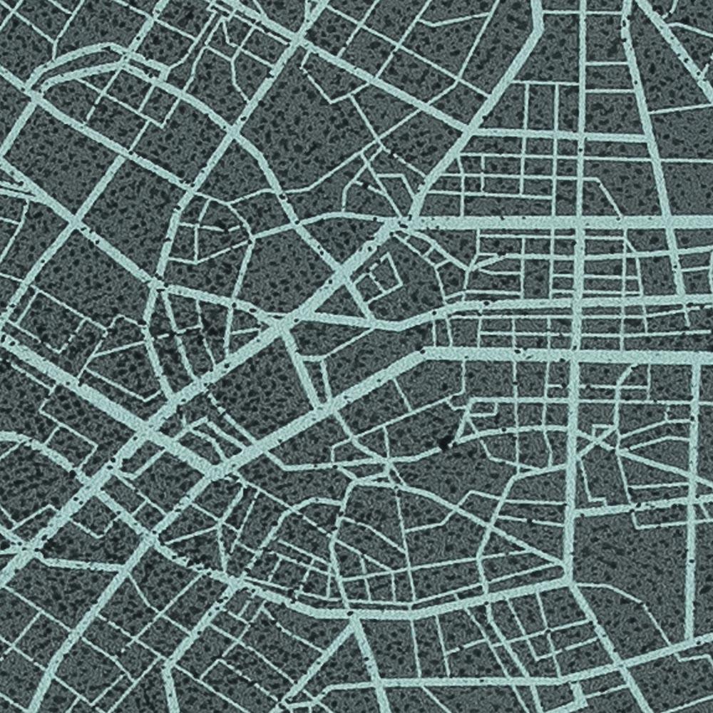 French Terry Panel Urban Network - Swafing - grau türkis