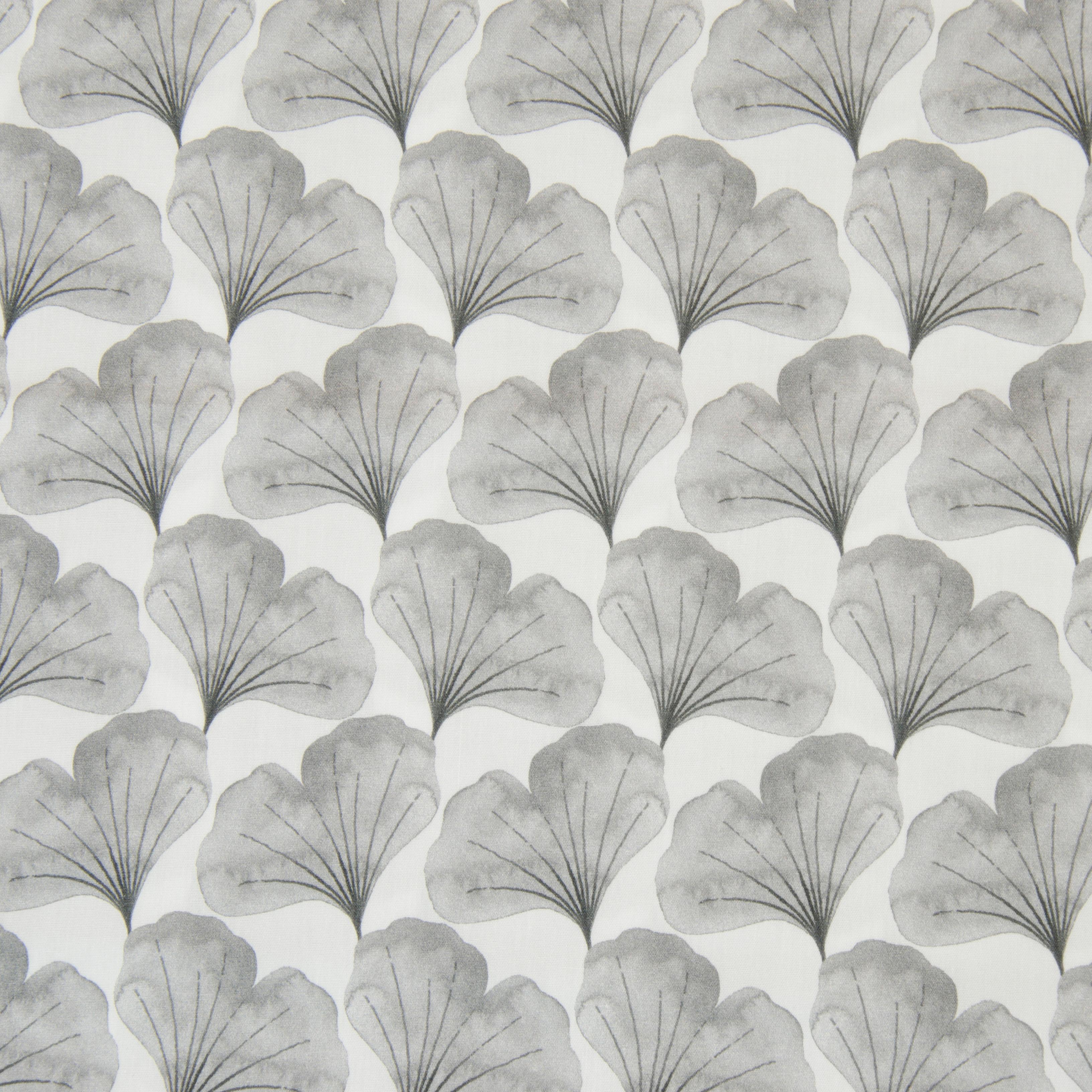 Jersey in weiß mit grauen Blüten