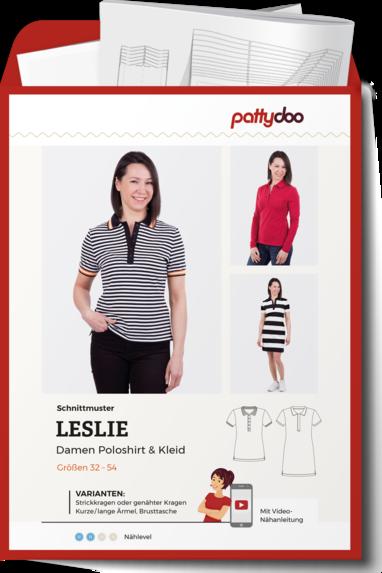 PATTYDOO Leslie Poloshirt Kleid Papierschnittmuster