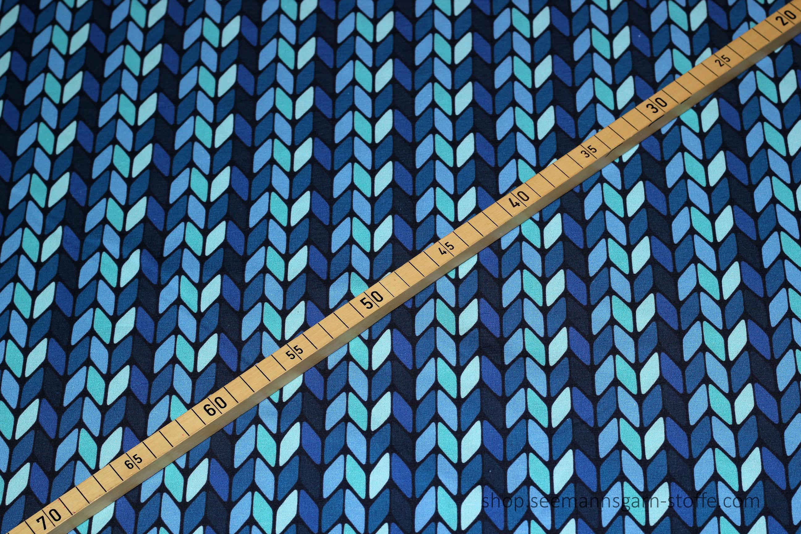 Jersey - blaues Pfeilmuster