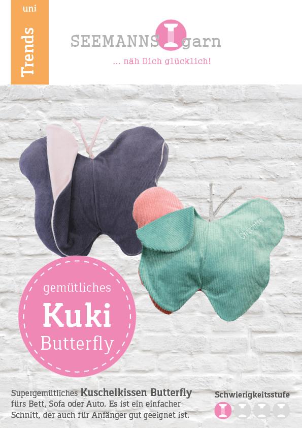 SEEMANNSgarn Kuschelkissen Butterfly Anleitung
